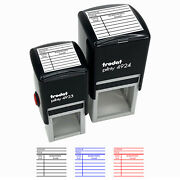 Library Book Borrow Return Card Fill-in Self-inking Rubber Stamp Ink Stamper