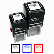 From The Personal Library Book Fill-in Self-inking Rubber Stamp Ink Stamper