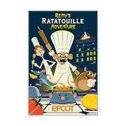 Disney Epcot Frozen And Remys Ratatouille Adventure Serigraph Limited Edition