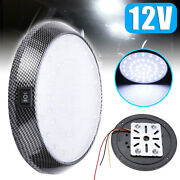 1pc 12v 46led Round Car Interior Indoor Roof Ceiling Dome Light Lamp White Kits