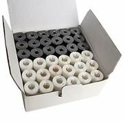144 Prewound Bobbins For Embroidery And Sewing Machines Class 15 Blackandwhite