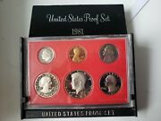 1981s United States Proof Set Type 2 All Six Coins R Type 2 In Original Box
