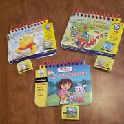 Lot Of Leap Frog My First Leappad Learning System 3 Cartridges And Books Dora Pooh