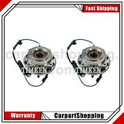 2 Timken Wheel Bearing And Hub Assembly Front For F-450 Super Duty 2011-2016