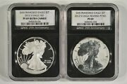2012-s Silver Eagle 1 San Francisco Mint 2 Coin Set Ngc Pf69 And Reverse Pf69