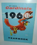 1960 St. Louis Cardinals Official Yearbook Nice, Musial, Boyer, Gibson, Mccarver