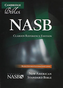 Nasb Clarion Reference Bible Ns486xe Black Goatskin Leather Book New