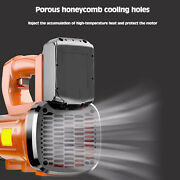 Handheld Cordless 3000w 21v Leaf Dust Blower Garden Cleaning W/2battery 1charger