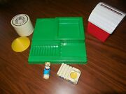 Vintage Johnson And Johnson Pretend Play Shape Stack Fit Farm Silo Truck Toy Lot