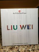 Liu Wei Illy Art Collection 6 Cappuccino Mugs - Brand New -never Usedrare
