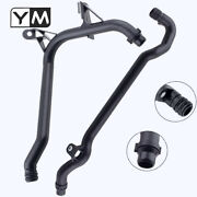 2x Water Pipes+seals Coolant Hose To Engine Block And Heater Inlet For Bmw E36 E38