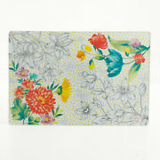 New Pioneer Woman Blooming Bouquet 12x18-inch Glass Cutting Board - Floral