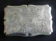 Exceptional Antique English Sterling Silver Large Table Snuff Box London C1841