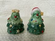 Salt And Pepper Shakers Mr. And Mrs. Christmas Tree