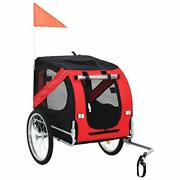 Pet Bike Trailer Cargo Cart For Small Dogs Bicycle Carrier Red And Black