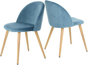 Greenforest Dining Chairs Set Of 2 Mid Century Modern Kitchen Chairs Velvet Uph