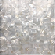 Art3d White Seamless Mother Of Pearl Tile Shell Mosaic For Bathroom/kitchen Back