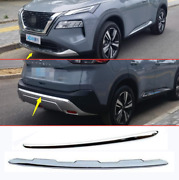 2021-2022 For Nissan Rogue Abs Chrome Front+rear Lower Bumper Molding Cove Trim