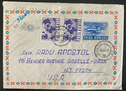1969 Bucarest Romania Airmail Postal Stationery Cover To Roselle Park Nj Usa