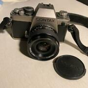 Film Camera Contax S2 Lensincluded Leather Genuine Strap With Cover