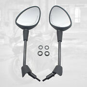 1 Pair Rearview Mirrors For Vespa Gt Gts Gtv 50 125 200 Accessories Black