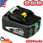 2pack 18v 6.0ah Lithium Battery Lxt For Makita Bl1860b Bl1830b Us Latest Tools