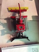 Red Plow Tractor Crane And More Metal