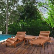 Tottenville Natural Eucalyptus 3-piece Patio Lounger Set By Brown