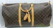 Authentic Louis Vuitton Keepol 60 M41422 M10972 Lady Fashion Used