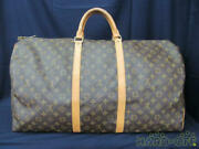 Authentic Louis Vuitton Keepol 60 M41422 Sp0947 Lady Fashion Used