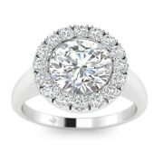 1.25ct D-si1 Diamond Halo Engagement Ring 14k White Gold Any Size