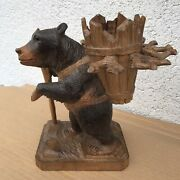 Lovely Old Swiss Brienz Black Forest Hand Carved Bear Hige 8,5 Inch