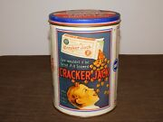 Vintage 1990 8 High Cracker Jack Baseball Confection Candy Tin Can Empty