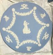 Wedgewood Annual Jasperware Plate 2000 Autographed By Count Wedgwood Rare