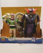 Disney Toy Story Buzz Lightyear And Emperor Zurg Talking Action Figures Set