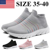 Women Ladies Running Kintted Socks Shoes Fitness Walking Casual Comfort Athletic
