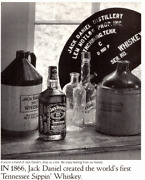 Jack Daniels Photo Print Ad 1997 Featuring Old Whiskey Bottles Antique Crocks