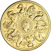 2021 Great Britain Gold Queenand039s Beasts Completer Andpound100 - 1 Oz - Bu