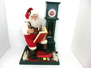 Holiday Creations Animated Santa Cassette Player With Clock Includes 2 Tapes