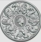 2021 Queen's Beasts Completer 2 Oz Silver Coin Bu .9999 - Pre-sale Read