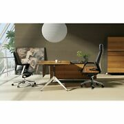 Modern Executive Desk With Right Return Cabinet Large