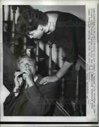 1957 Press Photo Gov Robert B Meyner Gets Reports On His Victory In New Jersey