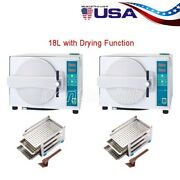 2xautomatic Autoclave 18l Steam Sterilizer Medical Sterilizition/drying Function