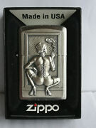 Smoking Woman 3d Zippo Design Never Been Used Dated 2009