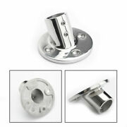 60 Degree 7/8 Pipe Boat Hand Rail Fittings Round Base 316 Grade Stainless Steel