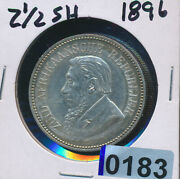 South Africa - 2 1/2 Shillings 1896 - Choice Xf 0183