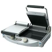 Cadco - Cpg-20 - Double Panini Grill With Ribbed Top Plate