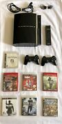 Sony Playstation 3 Ps3 Fat 80gb + 7 Games Lot Tested And Working