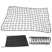 4and039x6and039 Luggage Net Storage Bag Mesh Holds Adjustable Hooks For Rooftop Cargo J4k7