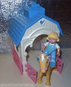 Fisher Price Loving Family 1994 Dream Doll Barn Stable Horse Pony Dollhouse Lot